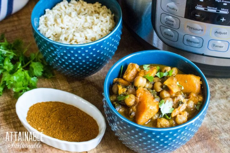 Sweet Potato Curry Recipe in the Instant Pot