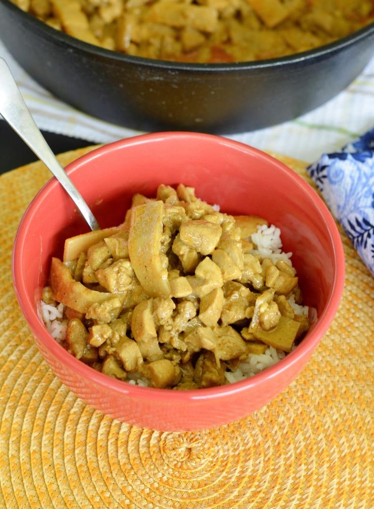 keto chicken recipe in bowl