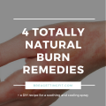 4 Natural Burn Remedies + A DIY Cooling Mist Recipe