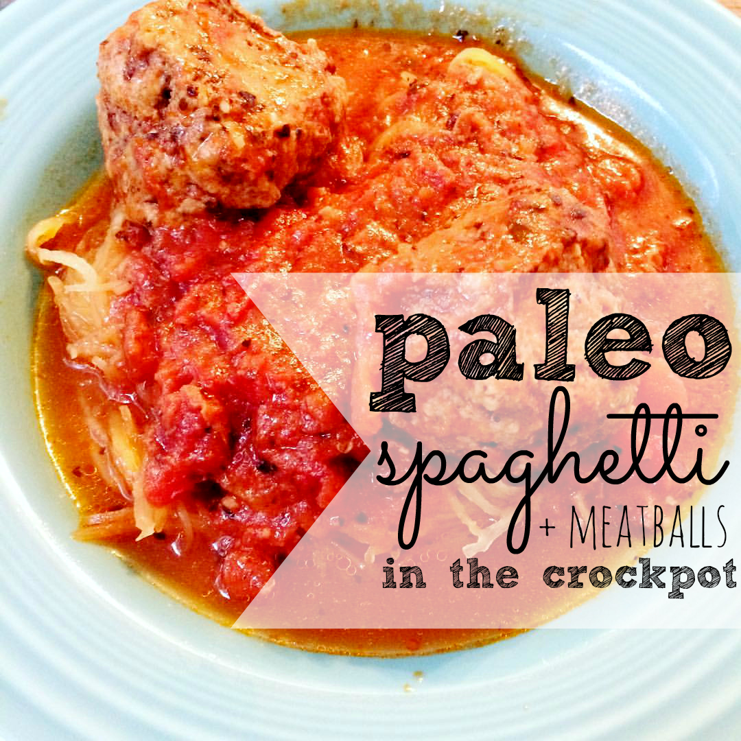 Do you miss pasta? You won't with this super easy Simple Paleo Crockpot Spaghetti and Meatballs recipe