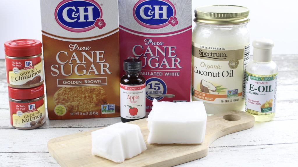 sugar scrub cube recipe with brown sugar