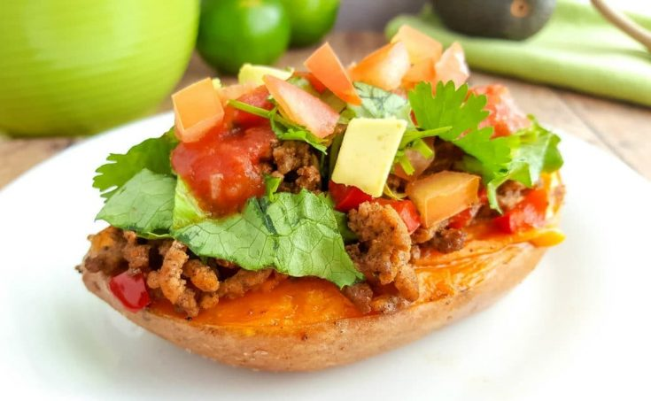 Taco Stuffed Sweet Potatoes Recipe | Whole30 Taco Sweet Potato