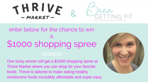 Enter to win a $1000 shopping spree at Thrive Market! Stock your pantry with healthy, wholesome foods!
