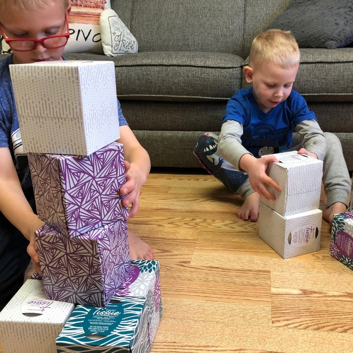 tower stacking tissues