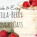 vanilla berry overnight oats