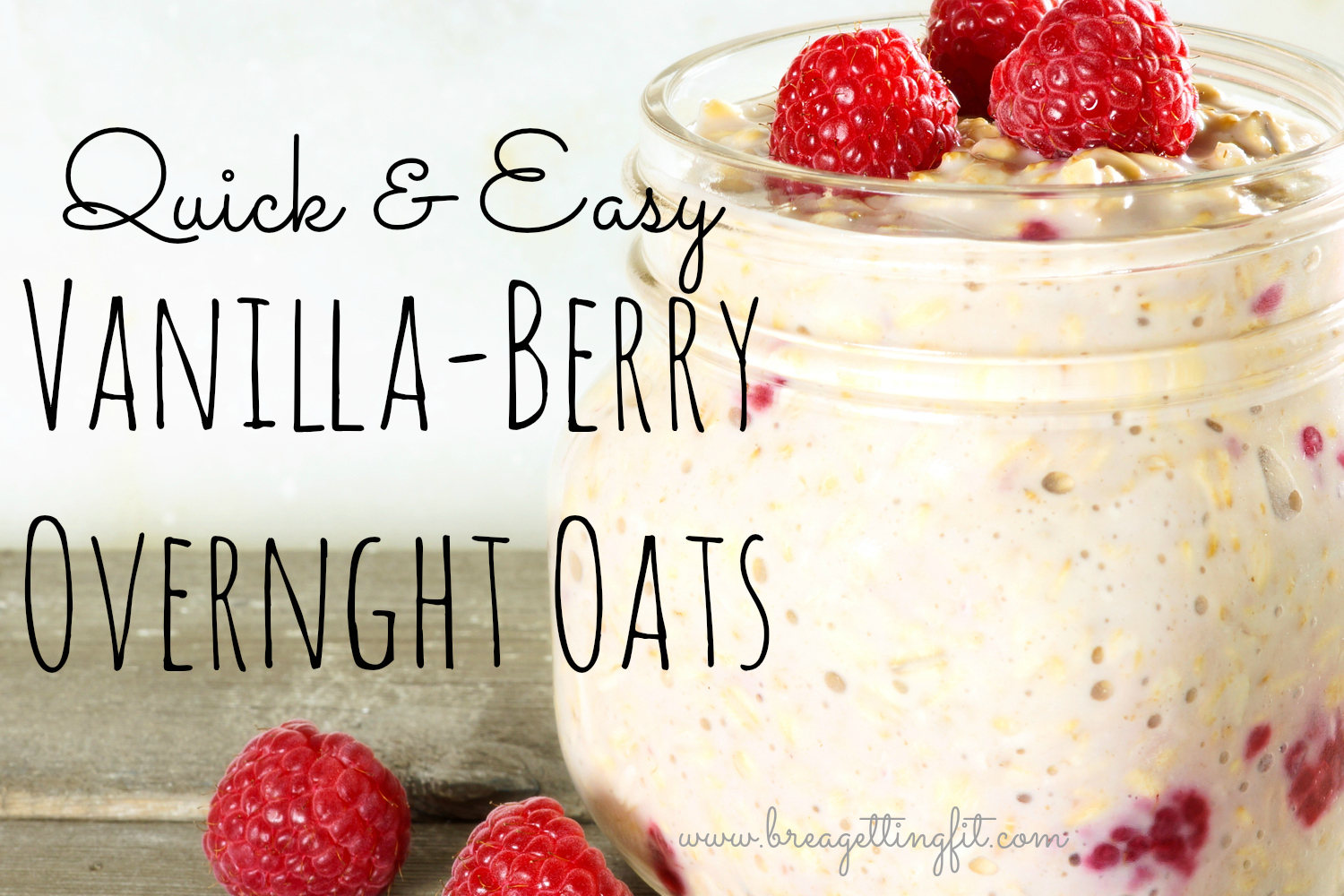 vanilla berry overnight oats