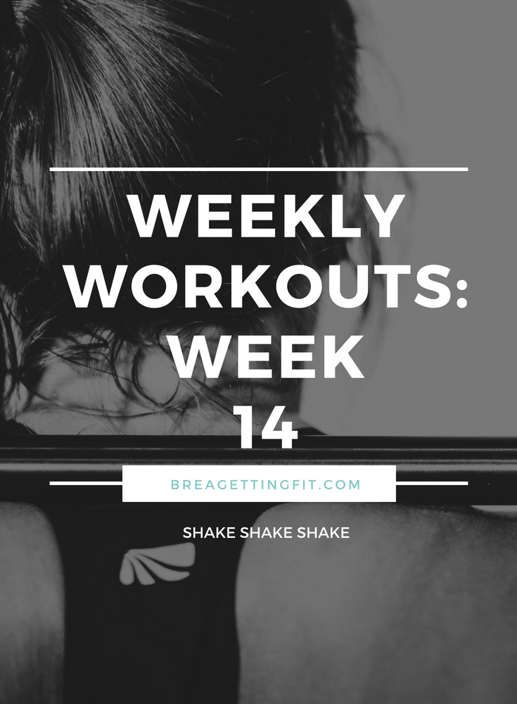 working out week 14