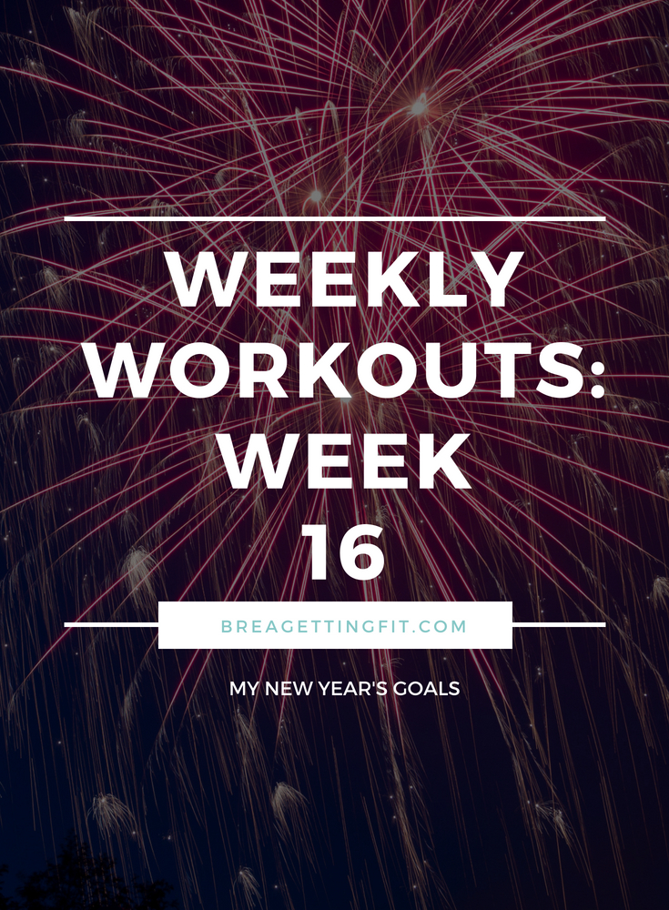 working out week 16